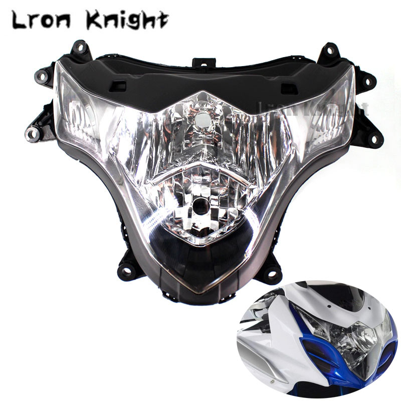 Para Suzuki GSXR1000 GSX-R1000 GSXR 1000 GSXR1000 K9 2009-2016 Motocicleta Frente Farol Head Light Lamp Habitação Montagem