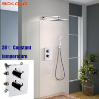 Mejor BAKALA tipo de pared 38 grados temperatura constante cabezal de ducha barra de ducha ducha de