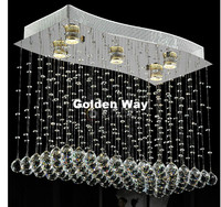 Modern Staircase K9 Crystal Chandelier Lights L65cm W35cm Stainless Steel Crystal Ceiling Lamp Living Room Bedroom Pendant Lamp