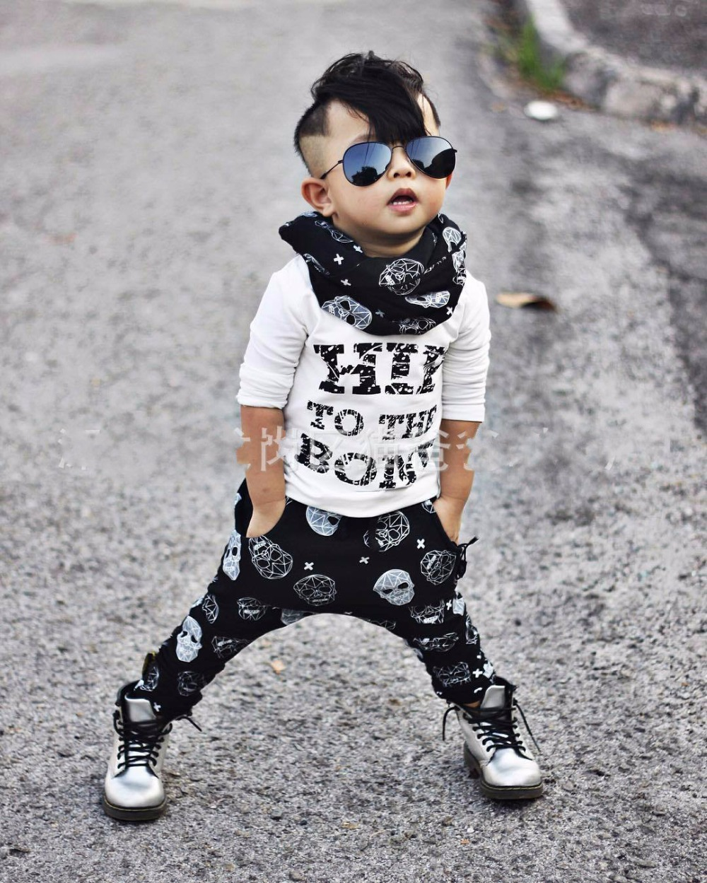 1cfebfe62d14 2018 Summer style infant clothes sets baby boy cotton fashion letters  printed Long sleeves T shirt + trousers 2 pcs baby boy Set-in Clothing Sets  from ...