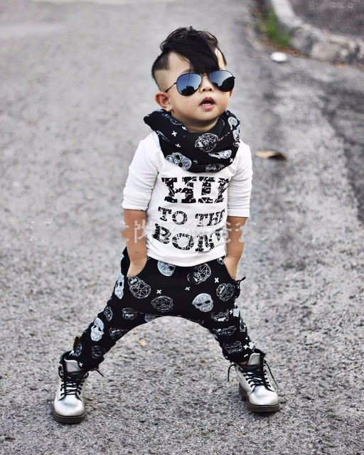 8a79767fee68 2018 Summer style infant clothes sets baby boy cotton fashion letters  printed Long sleeves T-