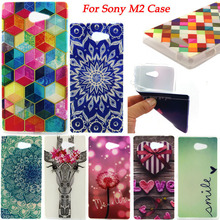 For Sony Xperia M2 Phone Cases Soft TPU Moible Phone Case Cover For Sony Xperia M2 dual D2302 D2303 S50h Shockproof Bags