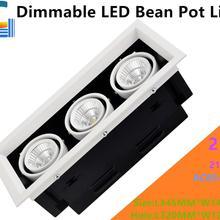 Dimmable 21 Вт светодиодный диодный светильник 3 COB светодиодный светильник с решеткой, выделенный AC85-265V светодиодный светильник с желчным пузырем CE 2100LM для домашнего освещения