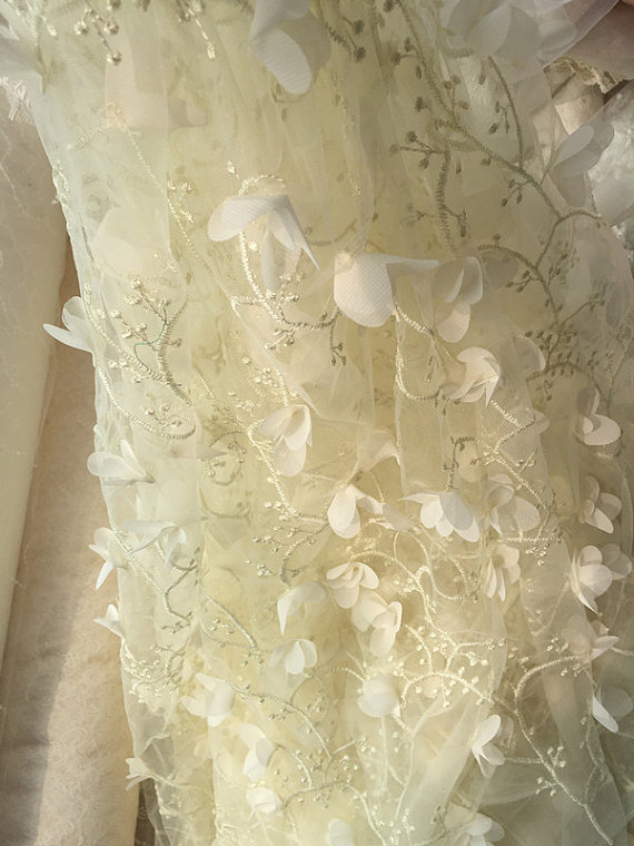 Aliexpresscom Buy 5 yards Wholesale 3D lace fabric French