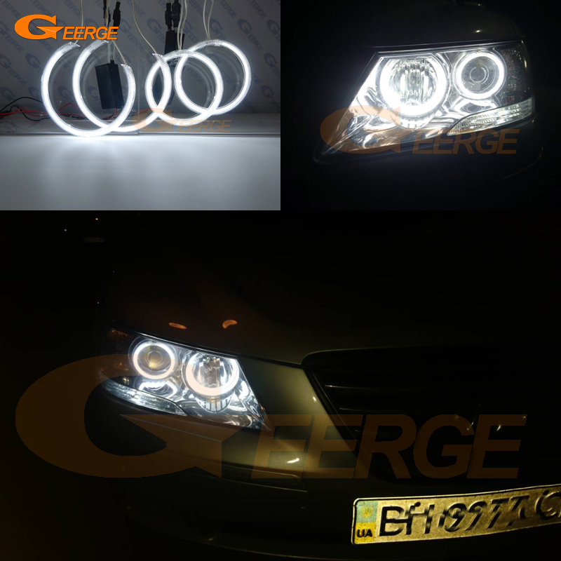 For Hyundai Sonata NF Transform 2008 2009 2010 Excellent Ultra bright illumination CCFL Angel Eyes kit Halo Ring angel eyes for hyundai sonata nf front oxygen sensor 39210 25300