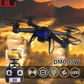 Frete grátis UAV DM007W RC Quadrocopters HD 2MP câmera 2.4 G 4CH 6-Axis Aircraft WIFI FPV em tempo Real Drones helicópteros RTF