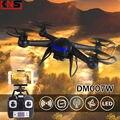 Uav envío gratis DM007W RC Quadrocopters HD 2MP cámara 2.4 G 4CH 6-Axis aviones WIFI FPV en tiempo Real de vídeo helicópteros RTF Drones