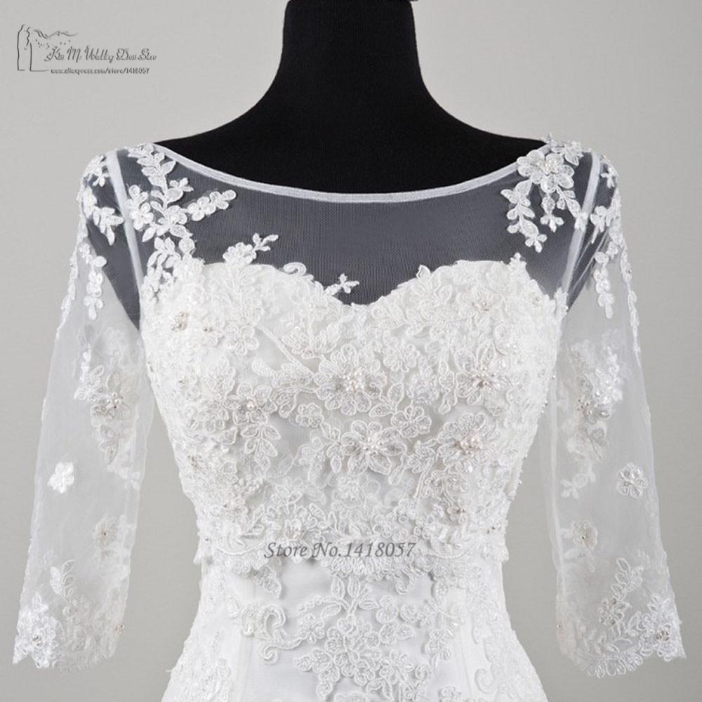 2016 New Arrival Summer 3/4 Sleeve Lace Wedding Jacket