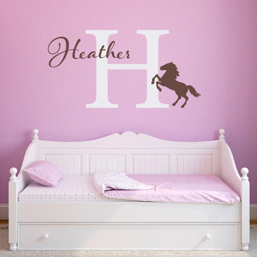 ∞Arte personalizado caballo nombre hermosa pared hogar dormitorio ...