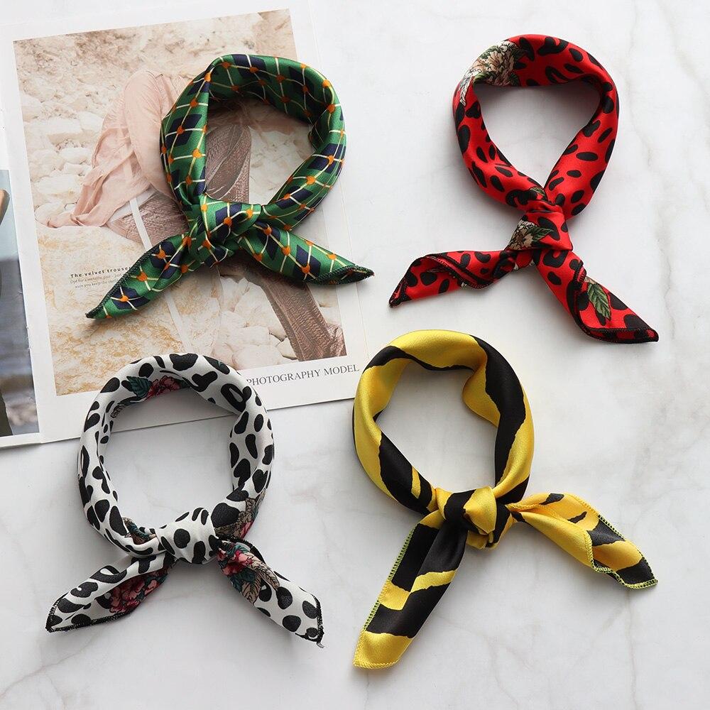 Collection Here All-match Small Scarf 90*5cm Spring Summer Women Elegant Silk Feel Satin Neckerchief Head-neck Hair Tie Band Bag Wristband Wrap Women's Scarves