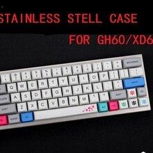 Изогнутый чехол из нержавеющей стали для xd60 xd64 gh60 60% пользовательские механические клавиатуры акриловые панели