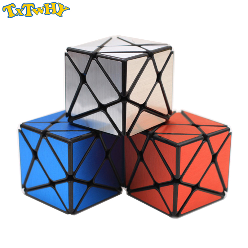 Yj Strange-shape Mirror Cube Puzzle Novelty Sliver/Blue/Red Speed Mirror Block Magic Cube Educational Toys Gift Adult