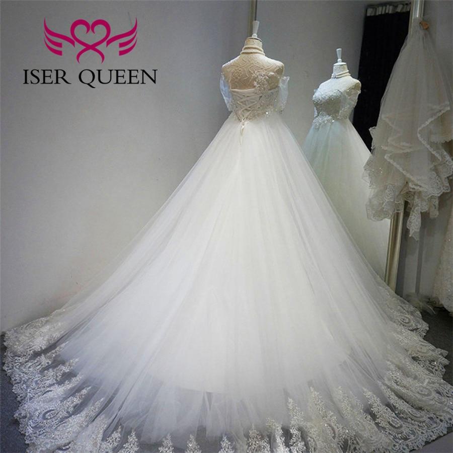 Blanc Nouveau De Wx0139 Cristal Arabe 2019 Grande Perles Luxe Robes Taille Moitié Mariée Bal Mariage Manches Robe tCsBhxrdQo