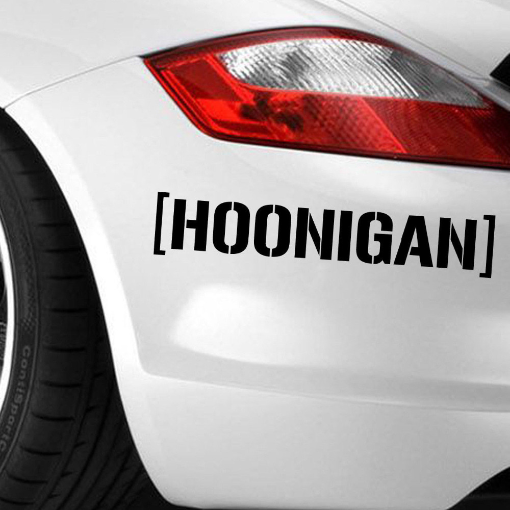 Cool car stickers car styling cool jdm fiesta hoonigan ken block hater car die cut decal vinyl stickers