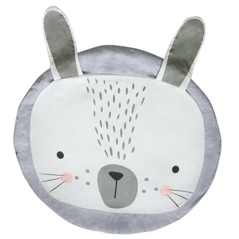 OCDAY Baby Sleep Play Mat Cute Animal Rabbit Crawling Mats Children Room Decor Foldable Game Play Pad for Toddlers Kids Toys