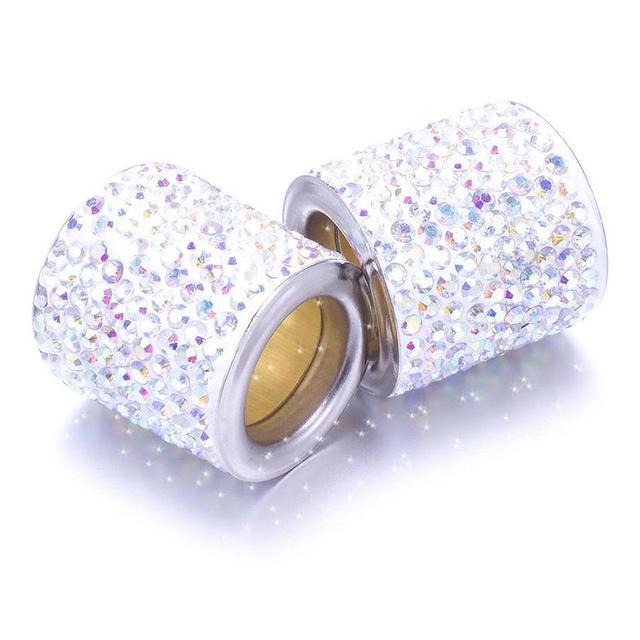 1 Pcs Car Seat Crystal Headrest Decorative Ring Collars Girls Rhinestone Decor Diamond Bling Car Interior Accessories