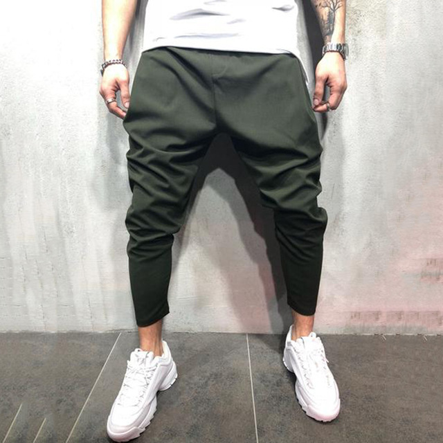 Men's Joggers Pants Streetwear Hip Hop Trousers Casual Harem Pants Male Loose Slim Fitness Soft Plain Narrow Leg Opening Clothes 2