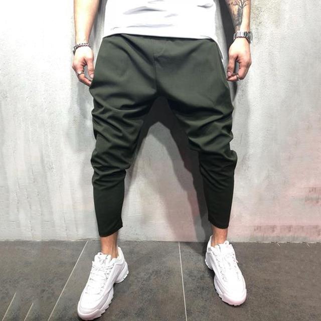 Men's Joggers Pants Streetwear Hip Hop Trousers Casual Harem Pants Male Loose Slim Fitness Soft Plain Narrow Leg Opening Clothes 2