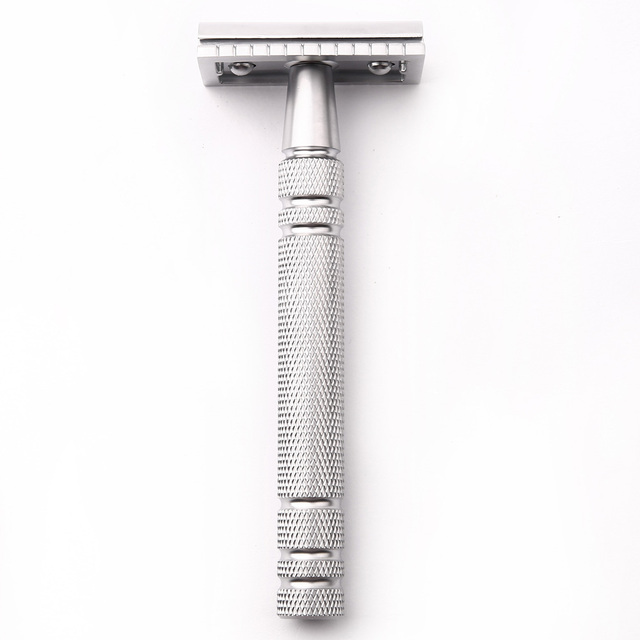 Men Shaving Blade Replaceable Classic Safety Razor Manual Shaver Matte Nonslip Blank Brass Double Edge Razor 1