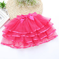 Spring summer autumn and winter veil girls princess skirt cake children tutu skirts 3-10y white black pink yellow Rose