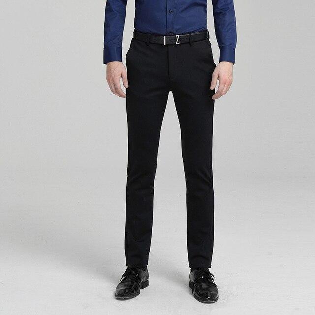 c5882a5771d5de Mens Luxe Pak Mode Jurk Broek Sociale Heren Broek Zwarte Formele Pak Broek  Business Mannelijke Trouwjurk