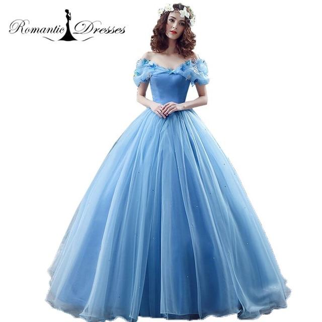 Romantic Dresses Real Princess Cinderella Cosplay Dress 2017 Fancy ...