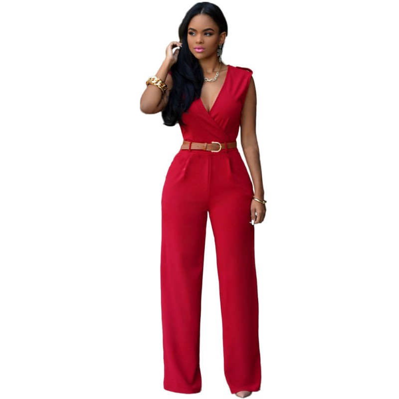 Lastest R80136 New Arrival Jumpsuit For Women Ohyeah Brand New Dark Blue Jumpsuit OL Style High Quality ...