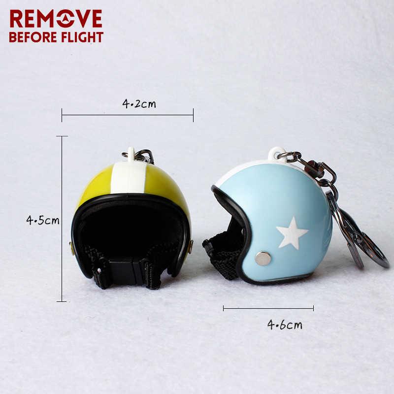 Thời trang Xe Máy Mũ Bảo Hiểm Móc Chìa Khóa Hiệp Sĩ Hat Xe Keychain cho Người Đàn Ông phụ nữ Túi hoặc Điện Thoại Di Động hoặc Xe Mặt Dây Chuyền Bikers Cars Chính Nhẫn