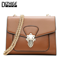 DIZHIGE Brand Small Women Messenger Bags Chain Crossbody Bags Women Vintage PU Leather Shoulder Bags Women