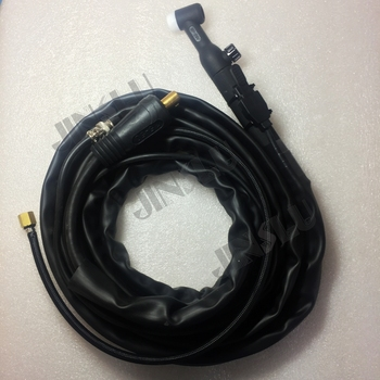 WP26V WP-26V Air Cooled Argon Tig Welding Torch 4M Black Handle Gas And Cable Seperated free shipping wp9 wp 9 air cooled argon tig welding torch bule handle 4m gas and separate 10 25 cable plug