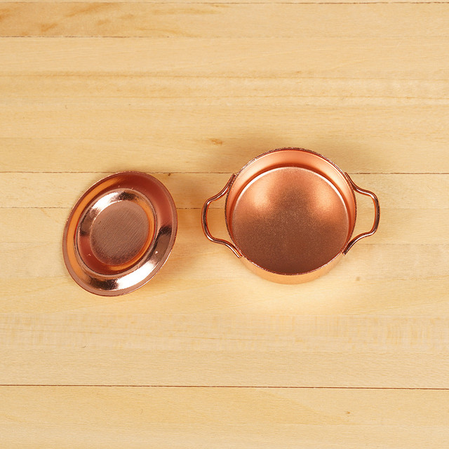 Mini Alloy Kitchen Pan For Doll House