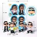 NOVO 4 pçs/lote figura de ação POP rocks modelo PSY gangnam estilo simulação & presente das crianças moda dos desenhos animados Mini Boneca interativa brinquedo