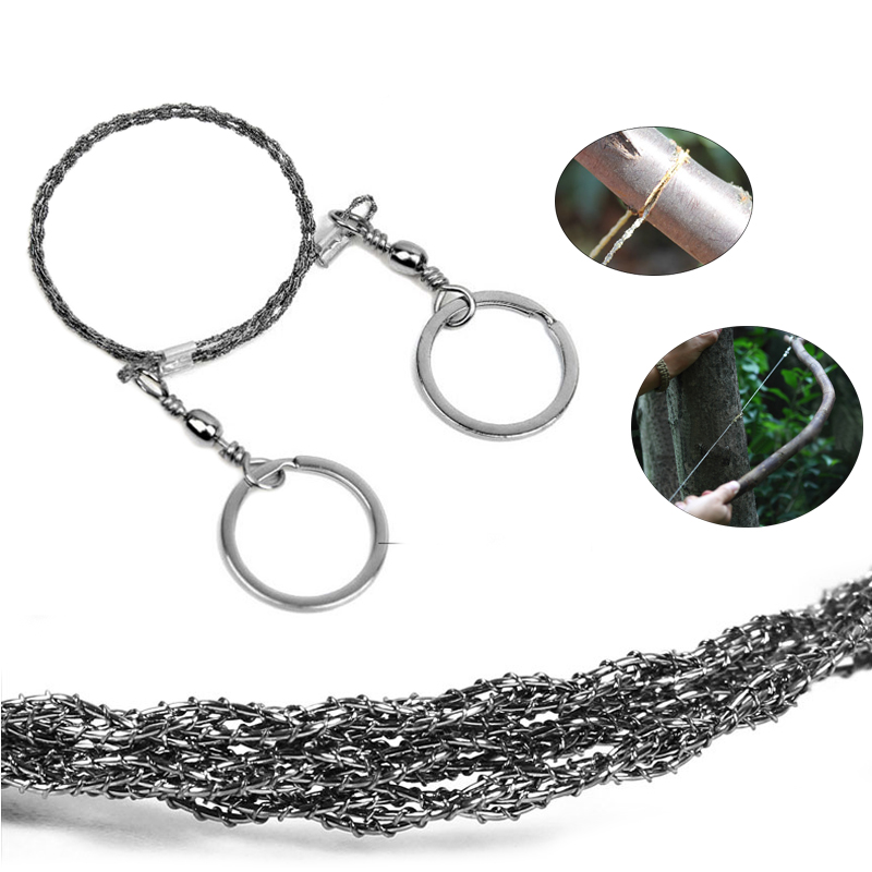 Outdoor Emergency Hand Chain 360 Degree Steel Wire Saw Portable Practical Survival Tool For Camping Hunting Kits Pocket Gear apg 65cm outdoor survival pocket chainsaw and camping gardening hand chain saw