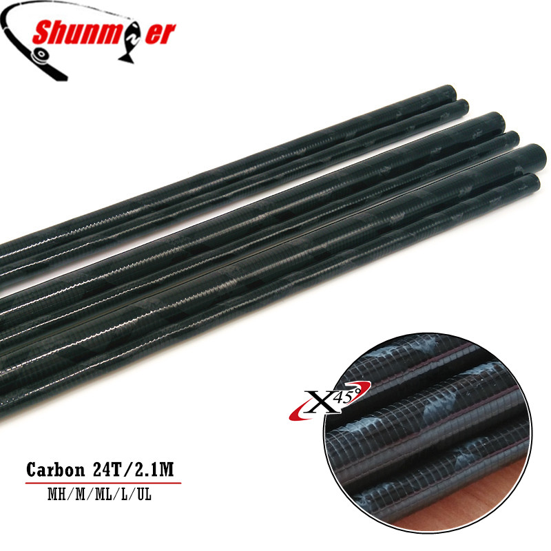 SUNMILE 2Sets 2 1M 2Sections UL L ML M MH 24T Fast Action Carbon Fishing Rod