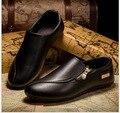 Primavera Verano Moda hombres zapatos casual Slip on shoes transpirable zapatos de los hombres zapatos planos de Los Holgazanes tamaño 39-46 K50