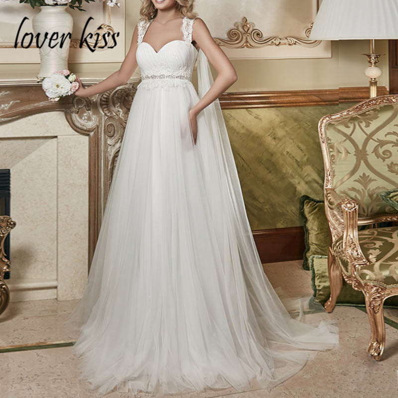 Lover Kiss Vestido De Noiva Simple Ruched Pregnant Wedding