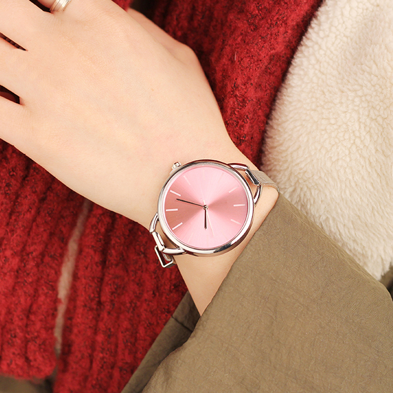 Hot CMK Luxury European Style Ladies Watches Stainless Steel Elegant Big Dial Women Watch Casual Dress Female wristwatch clock