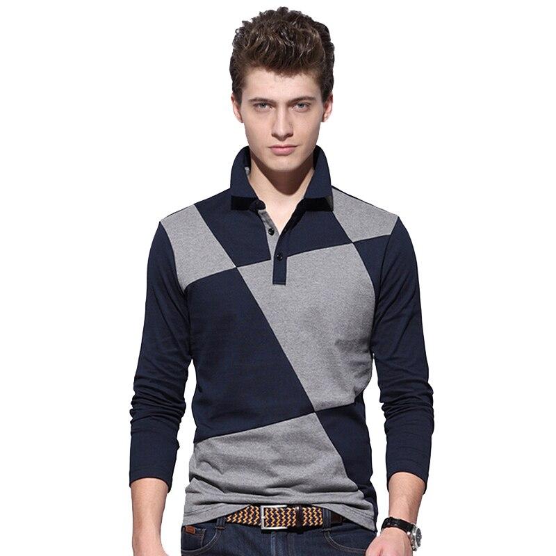 Brand new men 39 s long sleeve polo shirt men casual design for Polo brand polo shirts