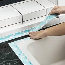 Водонепроницаемый Плесень Доказательство клейкая лента с принтом Прочный ПВХ материал кухня ванная комната стены уплотнительная лента гаджеты