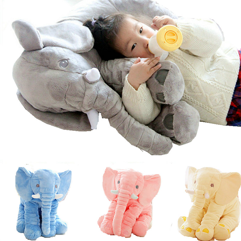 40CM Elephant Plush Toy Kids New Large Plush Toys for Chidren Birthday gift Sleeping Pillow Back Cushion high quality Doll