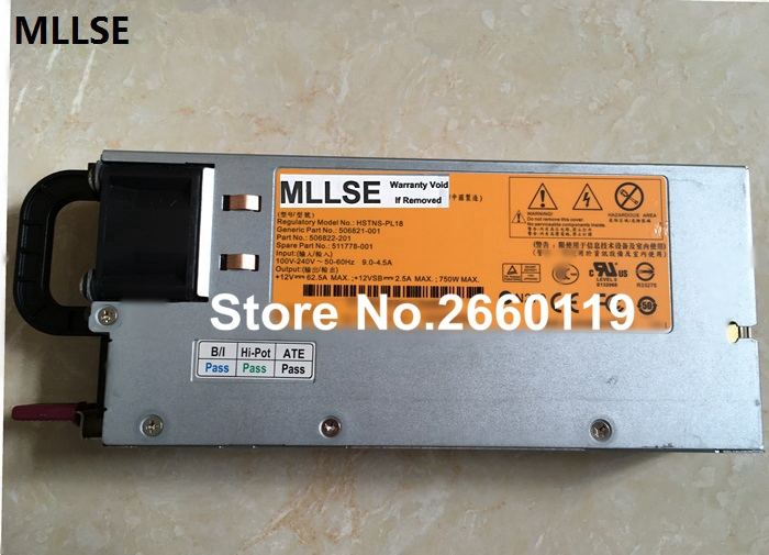 все цены на Server power supply for HSTNS-PL18 HNTNS-PD18 DPS-750RB A 511778-001 506821-001 506822-201 750W, fully tested онлайн