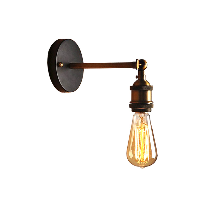 Винтаж гладить Американский одной головы настенный светильник Лофт исследования фойе Обеденная Ретро прикроватные бра Бесплатная доставка (bd-67)