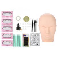 Training False Eyelashes Extension Exercise Kit Professional Grafting False Eyelashes Tweezers Cleaning Rods Eye Lashes 11pcs