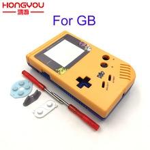 Boîtier de remplacement de jeu jaune et bleu coque en plastique pour Nintendo GB pour Gameboy boîtier de Console classique