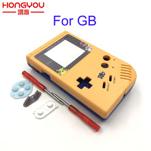 Yellow and blue Game Replacement Case Plastic Shell Cover for Nintendo GB for Gameboy Classic Console Case housing