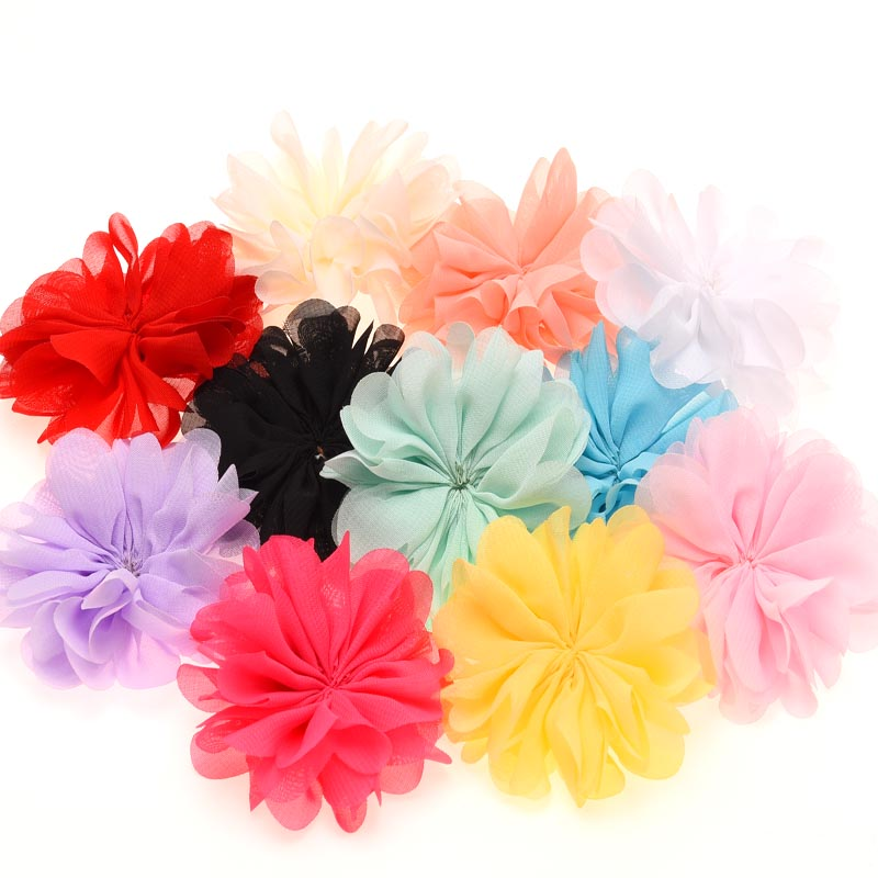 "3 pcs Black 2/"" lace puff flowers DIY bow /& headband supplies"