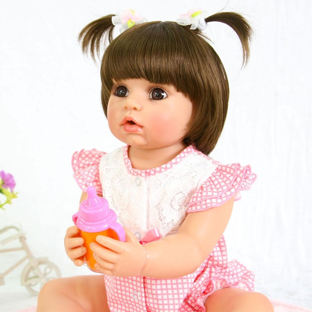 55cm full Silicone Reborn Baby Doll Toy For Girls NewBorn Girl Baby Birthday Gift To Child Bedtime Early Education Toy55cm full Silicone Reborn Baby Doll Toy For Girls NewBorn Girl Baby Birthday Gift To Child Bedtime Early Education Toy