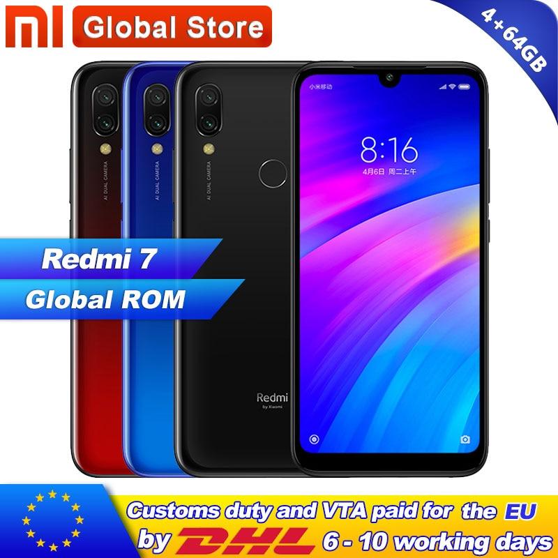 Xiaomi Redmi 7 4GB 64GB Redmi7 Smartphone Snapdragon 632 Octa Core Mobile phone 12MP Camera Phone