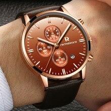 Zegarki Meskie Fashion Classic Business Watch Men Casual Genuine Leather Calendar Watches Luxury Waterproof Wristwatch Hot