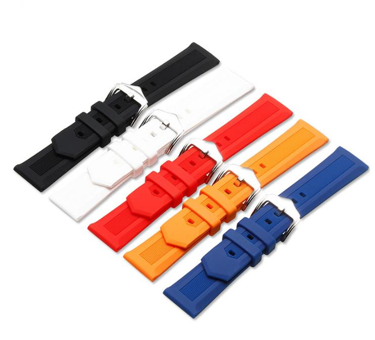 Watchbands Strap bracelets waterproof Soft Silicone Rubber Watch bands mens accessories 14mm 16mm 18mm 19mm 20mm 21mm 22mm 24mm